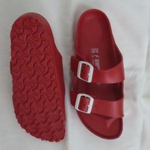 Birkenstock Red Rubber Slides